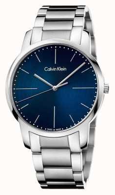 Calvin Klein Quadrante blu del braccialetto dell'acciaio inossidabile della città K2G2G1ZN
