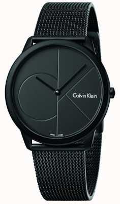 Calvin Klein Bracciale in acciaio inossidabile nero minimo K3M514B1