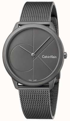 Calvin Klein Bracciale in grigio in acciaio inox grigio K3M517P4