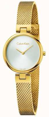 Calvin Klein Braccialetto d'acciaio verniciato d'acciaio placcato in oro pvd womans K8G23526