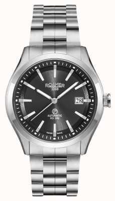 Roamer Automatico rd100 | bracciale in acciaio inossidabile | quadrante nero 951660-41-55-90