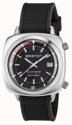 Briston Unisex clubmaster diver marcia automatica in acciaio spazzolato 17642.S.D.15.RNB