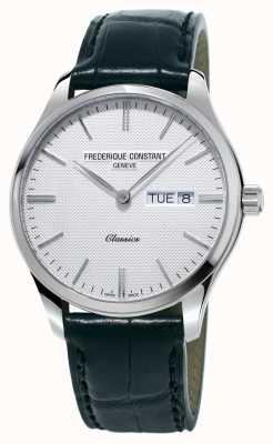 Frederique Constant Quadrante bianco della cinghia di cuoio del quarzo del classico degli uomini FC-225ST5B6