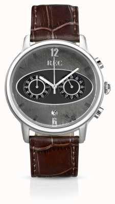 REC Mark 1 m1 cinturino cronografo in pelle marrone M1