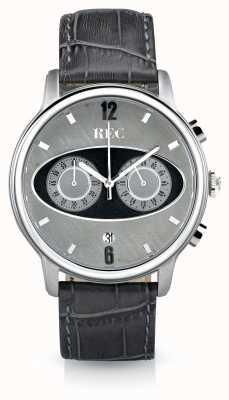 REC Cinturino in pelle grigia cronografo Mark 1 m2 M2
