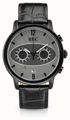 REC Mark 1 m3 cronografo cinturino in pelle nera M3