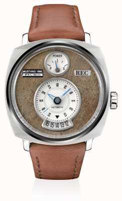 REC Cinturino in pelle marrone automatico mustang P51-02