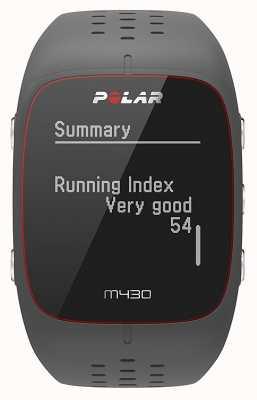 Polar M430 orologio sportivo in gomma grigia | 90064404