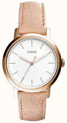 Fossil Cinturino in pelle beige in neeley Womans ES4185
