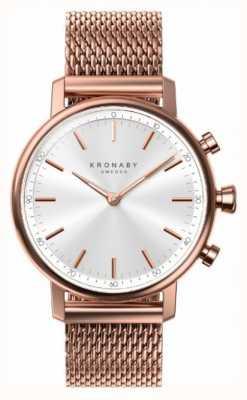 Kronaby Maglia placcata oro rosa bluetooth a 38000 carati a1000-1400 S1400/1