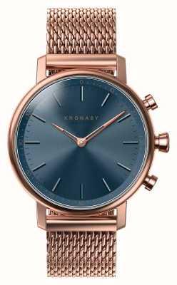 Kronaby Smartwatch bluetooth con quadrante blu oro rosa da 38 mm A1000-0668