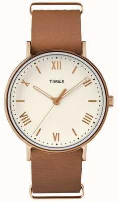 Timex Cassa di tono di oro rosa del quadrante della crema di 41mm di southview unisex TW2R28800