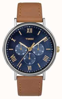 Timex Cronografo multifunzione da uomo a sud di colore marrone marrone TW2R29100