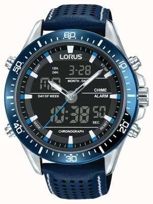 Lorus Mens sport cronografo analogico / digitale blu RW643AX9
