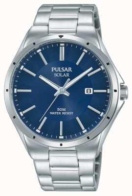 Pulsar Quadrante blu con cinturino in acciaio inossidabile PX3139X1