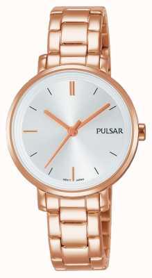 Pulsar Il braccialetto dell'acciaio inossidabile placcato oro è aumentato PH8340X1