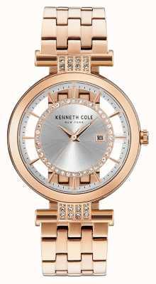 Kenneth Cole Cinturino in acciaio inossidabile oro rosa di trasparenza Womans KC15005004