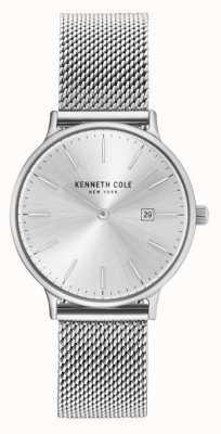 Kenneth Cole Quadrante argentato del braccialetto della maglia dell'acciaio inossidabile di Womans KC15057007
