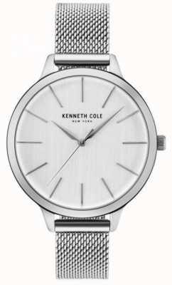 Kenneth Cole Braccialetto d'argento in acciaio inossidabile d'argento del quadrante argentato di Womans KC15056009