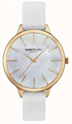 Kenneth Cole Pelle bianca da donna di cinturino in madreperla KC15056001