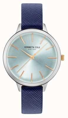 Kenneth Cole Pelle di cuoio blu di cinturino in madreperla KC15056003