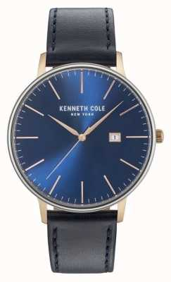 Kenneth Cole Cinturino in pelle nera blu scuro KC15059004