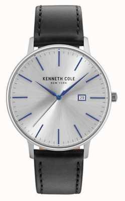 Kenneth Cole Cinturino in pelle nera in oro scuro KC15059006