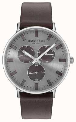 Kenneth Cole Cinturino in pelle marrone scuro marrone multifunzione KC14946001