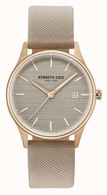 Kenneth Cole Cinturino in pelle marrone marrone Womans KC15109003
