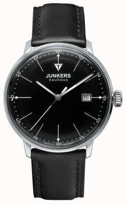 Junkers Cinturino in pelle nera con manico nero bauhaus 6070-2