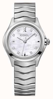 EBEL Orologio da donna in acciaio inossidabile con diamanti Wave 1216193