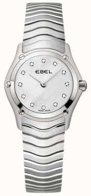 EBEL Orologio da donna in acciaio inossidabile con diamante classico 1215421