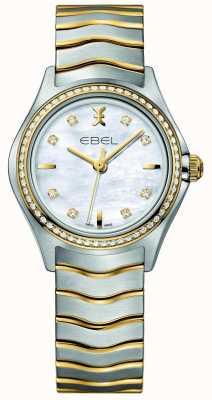 EBEL Orologio a due toni di diamanti della signora delle onde 1216351