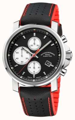 Muhle Glashutte 29er grande cronografo automatico mens pelle / gomma M1-25-43-NB