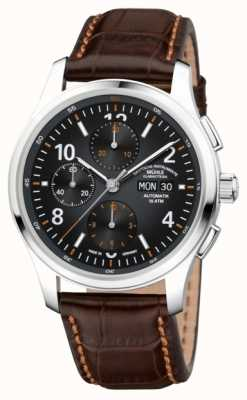 Muhle Glashutte Mens lunova cronografo in pelle marrone automatica M1-43-06-LB