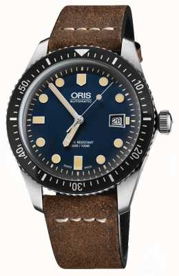Oris Divers sessantacinque manopola automatica marrone cinturino in pelle marrone 01 733 7720 4055-07 5 21 02