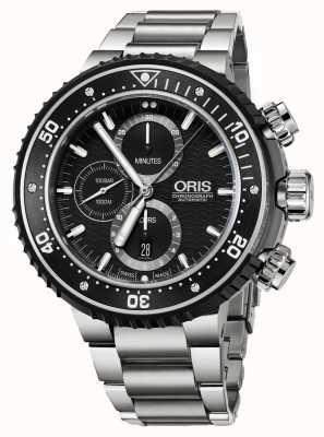 Oris Prodiver 1000m cronografo automatico in titanio 01 774 7727 7154-SET