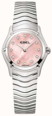 EBEL Classico da donna con 12 diamanti rosa quadrante in acciaio inossidabile 1216279