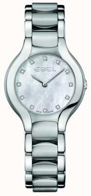 EBEL Womens beluga set di diamanti in acciaio inossidabile 1216038