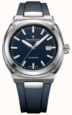 Dreyfuss Mens cronometro automatico 1953 blu scuro DGS00154/05