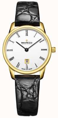 Dreyfuss Womans 1980 orologio cinturino in pelle con cinturino in oro DLS00136/01