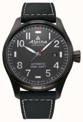 Alpina Cinturino nero automatico da pilota per startimer da uomo AL-525G4TS6