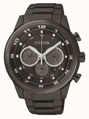 Citizen Cronografo nero eco-drive uomo nero ip CA4035-57E