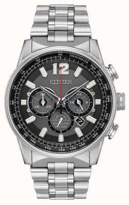 Citizen Acciaio inossidabile cronografo da notte in ecologico uomo CA4370-52E