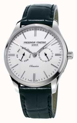 Frederique Constant Cinturino da uomo in pelle nera classico / cinturino verde nato FC-259ST5B6