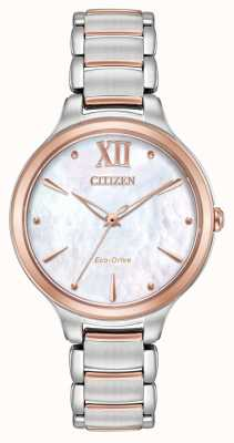 Citizen Orologio da oro rosa due orologi da donna EM0556-87D
