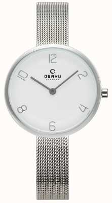 Obaku Womans vand watch maglia d'acciaio V195LXCIMC