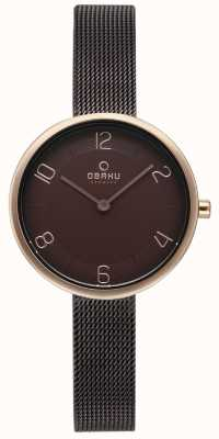 Obaku Womans vand rete in noce con set di braccialetti alternativi V195LXVNMN