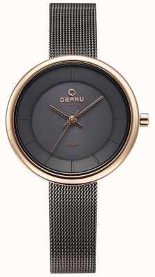 Obaku Vigilanza del braccialetto della maglia del granito di Womans lys V206LRVJMJ