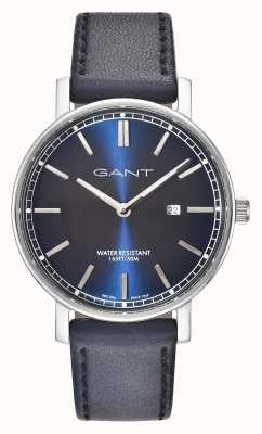 GANT Manopola blu blu cinturino in pelle nashville GT006002